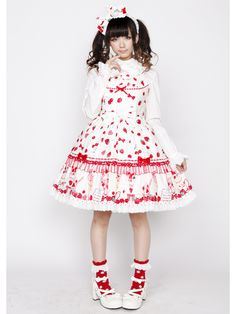 Angelic Pretty Strawberry Parlourティアードジャンスカ