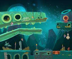 Concepts for Qumi-Qumi game by Polina Tsareva, via Behance Game Environment, Environment Concept Art, Environment Design, Game Background, Cartoon Background, 2d Game Art, Video Game Art, Vikings, Casual Art