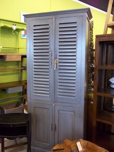 Louvered door Cabinet! Great Piece. From Nadeau furniture.