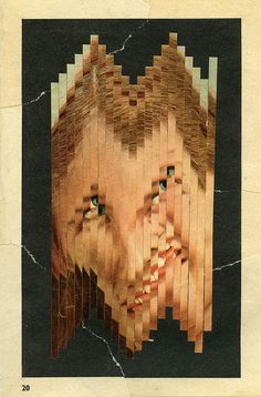 thisincentive:  Her on Flickr. John Stezaker, Botanical Drawings, High Art, Band Posters, Texture Art, Photomontage, Art Inspo, Contemporary Art, Moose Art