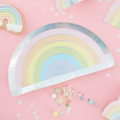 Buy Party Supplies Online | Pretty Stylish Party Shop | Free Delivery – The Original Party Bag Company Rainbow Party Favors, Rainbow Parties, Rainbow Birthday Party, Rainbow Birthday Decorations, Summer Parties, Party Napkins, Party Plates, Party Tableware, Ballons Pastel