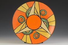 Andrew Muir | Clarice Cliff, Art Deco Pottery, Moorcroft and 20th Century Ceramics Dealerclarice cliff SLICED CIRCLE RADIALLY DECORATED PLATE C.1929