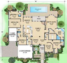 Best Selling Luxury House Plan, VanAken Estate First Floor Plan