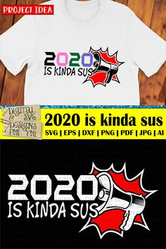 2020 is The Imposter SVG cuttable file. Designed by DigiAndSVGDesigns4U. Works on all major cutting machines. Sarcastic Quotes, Funny Quotes, Cutting Tables, Silhouette Studio Designer Edition, How To Make Tshirts, Vinyl Cutter, Coreldraw, Cricut Design, Design Bundles