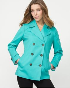 Love this bright turquoise coat I got for my Bday!