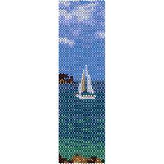 Sailboat Peyote Bead Pattern, Bracelet Cuff, Bookmark, Seed Beading Pattern Miyuki Delica Size 11 Beads - PDF Instant Download by SmartArtsSupply on Etsy