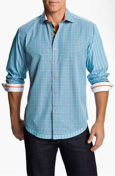 Robert Graham 'X Collection - Keystone-' Sport Shirt | Nordstrom