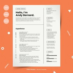 Thinking of leaving that dreadful job? Or maybe you've already quit, and you're desperate to start landing some interviews.  You aren't just some anybody looking for a job; you've got talent, you've got experience, and you've got pizzazz. Any employer would be lucky to have you.  We believe your resume should reflect that. So we designed this resume template to make your name memorable and move your resume to the top of the stack. We've done the design legwork so you don't have to. Fun…