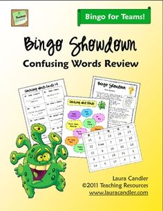 Bingo Showdown: Confusing Words Review - Fun cooperative learning version of bingo, can be played in teams or as a class