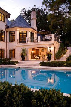 fachada + piscina #decor #outdoor #front