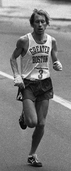 Bill Rodgers runs to victory in the first 5 Borough New York City Marathon, October 1976.