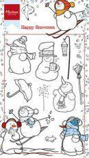 Marianne D Stempel Happy snowmen HT1609 10,5x18,5cm Artikelnummer180016/1609