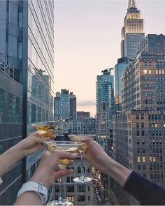 A view that turns a night with friends into so much more. The Marmara Park Avenue #luxury #cheers #marmaranyc 📷: @carissa_burton