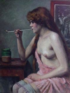 Charles Guerin — Woman with Pipe