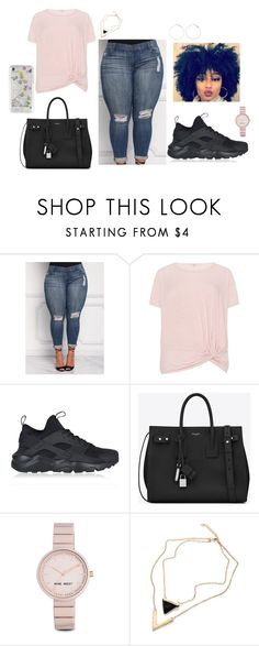 """Untitled #35"" by fashionnmia on Polyvore featuring NIKE, Yves Saint Laurent, Nine West and Rebecca Minkoff"