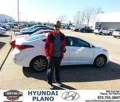 #HappyAnniversary to Gene Schanbaum on your 2014 #Hyundai #Elantra from Frank White at Huffines Hyundai Plano!
