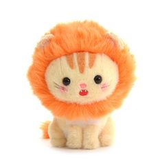 Lion Hat Kawaii Plush, Cute Plush, Kawaii Pig, Cute Stuffed Animals, Cute Animals, Lion Hat, Silly Hats, Disney Cats, Hello Kitty Birthday