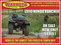 New 2016 Honda FourTrax® Rancher® ATVs For Sale in Florida. Call Norm for details. Choose the perfect ATV for the job or trail. Every ATV starts with a dream. And where do you dream of riding? Maybe you'll use your ATV for hunting or fishing. Maybe it needs to work hard on the farm, ranch or jobsite. Maybe you want to get out and explore someplace where the cellphone doesn't ring, where the air is cold and clean. Or maybe it's for chores around your property. Chances are, it's…