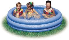 8. Intex Crystal Blue Kids Outdoor Inflatable Swimming Pool