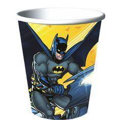 Square Plates and Napkins Batman Party Supply Dinner Kit
