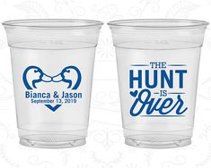 Personalized Disposable Soft Sided Cups are the perfect keepsakes for your friends to remember your special day. Cheers to a fun and memorable wedding day! ★ HOW TO PLACE AN ORDER ★ ------------------------------ 1. Choose Quantity / Price and Imprint Color 2. Add to Cart 3. Include