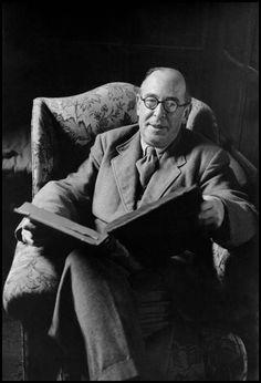 Clive Staples Lewis (1898-1963) - Irish novelist, poet, academic, medievalist, literary critic, essayist, lay theologian, and Christian apologist. Photo by Burt Glinn, 1958