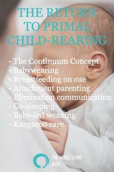 The Whole Living Blog - The return to primal child rearing  - The Continuum Concept - Babywearing - Breastfeeding on cue - Attachment parenting - Elimination communication - Co-sleeping - Baby-led weaning - Kangaroo care