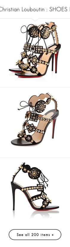 """""""Christian Louboutin : SHOES II"""" by bianca-cazacu ❤ liked on Polyvore featuring bags, handbags, christian louboutin shoes, black strappy shoes, kohl shoes, decorating shoes, genuine leather shoes, shoes, sandals and black"""