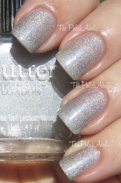 Butter London: Dodgy Barnett. Have it. Love it! Shiny without a topcoat, blinding with a topcoat! Rainbows in the sun!