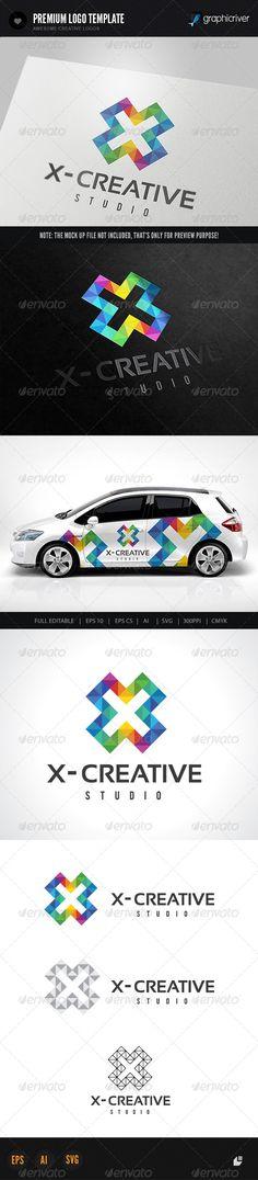 X Creative Logo - Letters Logo Templates