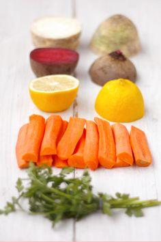 Detoks warzywny Cantaloupe, Carrots, Menu, Healthy Recipes, Fruit, Vegetables, Drinks, Smoothie, Menu Board Design