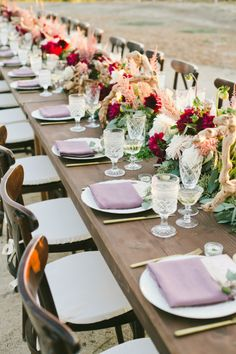 Gorgeous family-styled table: http://www.stylemepretty.com/california-weddings/sonoma/2015/03/21/romantic-al-fresco-sonoma-wedding/ | Photography: Onelove - http://www.onelove-photo.com/