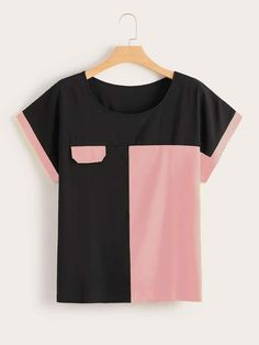 To find out about the Plus Cut And Sew Tee at SHEIN, part of our latest Plus Size T-shirts ready to shop online today! Sewing Shirts, Sewing Clothes, Diy Clothes, Clothes For Women, Skirt Fashion, Fashion Dresses, Fashion Fashion, Fashion Brands, Mode Kimono