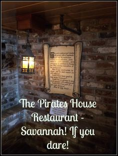 "One of our ""must do"" stops in Savannah, was to eat lunch at The Pirates House!"