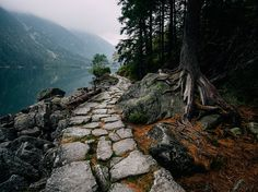 Stone Path and Lake Image, Poland - National Geographic Photo of the Day