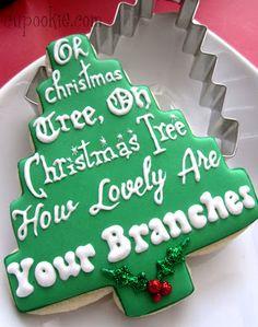 Oh Christmas Tree, Cookies
