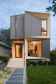 Tesseract House von Phaedrus Studio - Home Decor - [post_tags Modern Architecture House, Facade Architecture, Residential Architecture, Minimalist House Design, Modern House Design, Facade Design, Exterior Design, Modern Contemporary Homes, Facade House