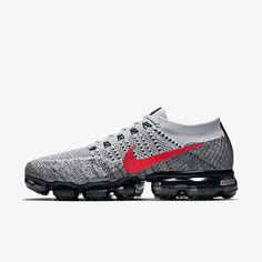 new product ab9e2 3d82c 849558-020 Nike Air Vapormax GreyRed(4) Deportivo, Tenis, Moda Hombre