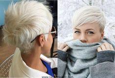Gebleicht blonde pixie Haarschnitte
