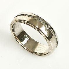 Men's Wedding Band With Raw Diamond Crystals