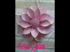Diy Rose Tutorial (Tamanho Grande Paper Rose) - YouTube