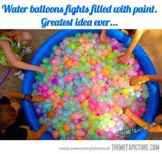 glow in the dark paint in a water gun - Google Search
