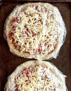 Homemade Frozen Pizzas. For some reason I have never tried this!! We enjoy homemade pizza, so the next time I make some I'll be sure to make extra for the freezer.