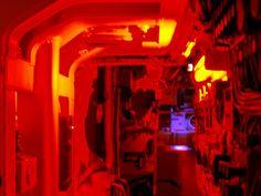Redoubtable Nuclear Submarine Interior - Emergency Lighting