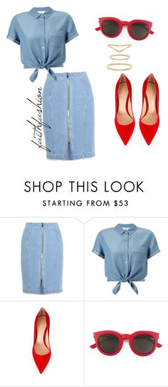"""Untitled #313"" by faithfashionash on Polyvore featuring Steve J & Yoni P, Miss Selfridge, Gianvito Rossi, Yves Saint Laurent and Mimi & Lu"