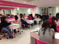 Nail course in progress.