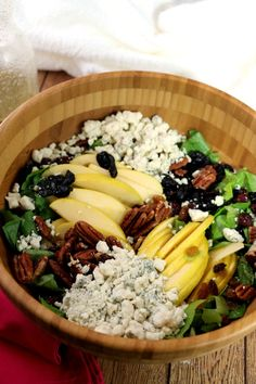 Apple, Pecan and Blue Cheese Salad with Apple Vinaigrette is a delicious winter salad that's quick and simple to prepare for one, two or a crowd.