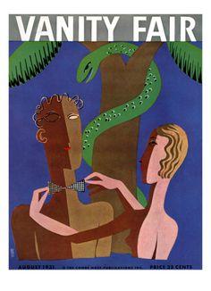Vanity Fair Cover - August 1931 by Eduardo Garcia Benito