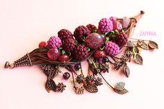 Авторский браслет с ягодами