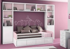 Storage Hacks Perfect for Your Apartment's Tiny Bedroom Girls Bedroom, Bedroom Decor, Childs Bedroom, Kid Bedrooms, Bedroom Small, Girl Rooms, Fantasy Bedroom, Shared Rooms, Bedroom Layouts